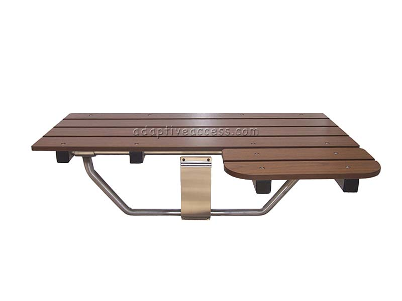 ada handicap folding shower seat woodgrain-234